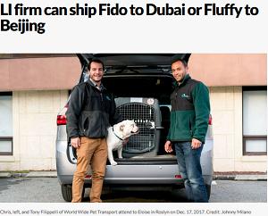 LI firm can ship Fido to Dubai or Fluffy to Beijing
